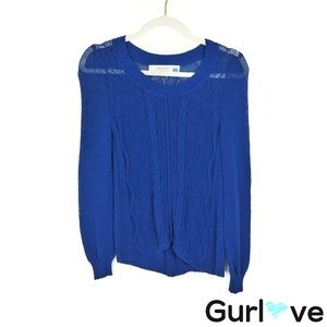 Sparrow S Blue Open Knit Howth Pullover